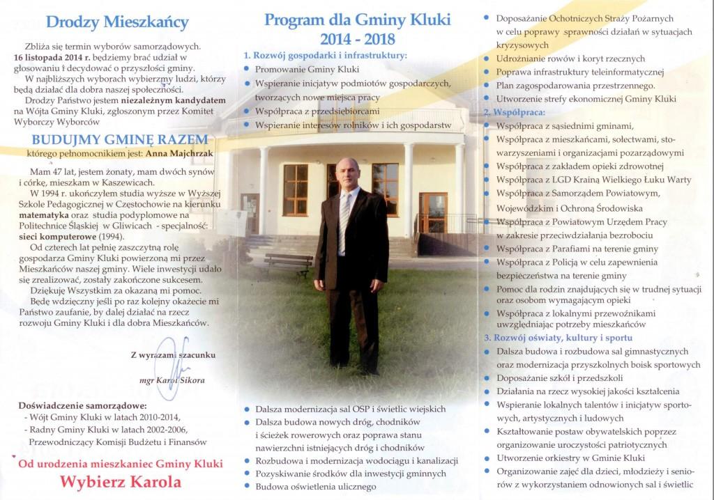 Program Wyborczy BUDUJMY GMINĘ RAZEM